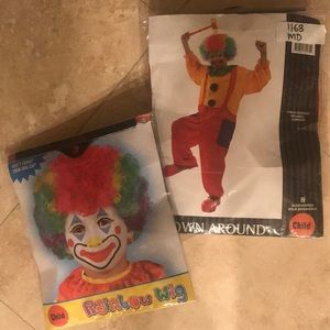 Clown costume with wig. Good condition.